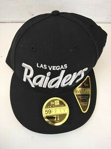 New Las Vegas Raiders NFL Football New Era 59Fifty Low Profile Hat Cap  7 7/8