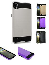 Lot 4 Brushed Hybrid Case for LG X POWER ONE boost mobile Wholesale Slim Armor