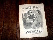 Dormi Pure serenata pour piano chant mezzo-soprano baryton 1880 Salvat. Scuderi