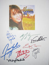 Hannah Montana Movie Signed Script X8 Miley Cyrus Osment Earles Musso reprint
