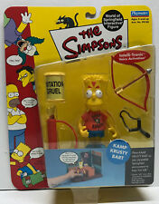 "[62213] 2000 THE SIMPSONS KAMP KRUSTY BART 3 ½"" ACTION FIGURE on FACTORY CARD"