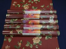 Norwall Wallcovering Floral Roses with Green Leaves #MP18749 (Lot of 5 Dbl Rolls