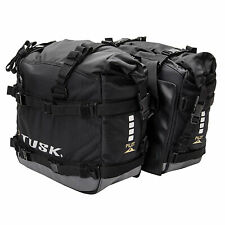 New! Tusk Pilot Motorcycle Pannier Bag Black/Grey-Dual Sport-Adventure