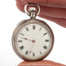 Antique LADIES Silver Pocket Watch c. 1906 Dennison Case WALTHAM Movement ALD
