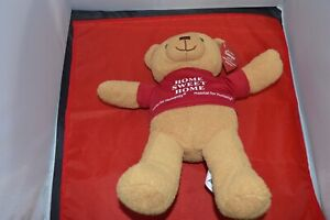 """Roofus Teddy Bear Plush Habitat for Humanity 11"""" Home Sweet Home Shirt Red (MA)"""