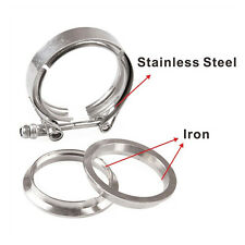"""2.5"""" inch Stainless Steel #304 V band Clamp Flange Turbo Exhaust Down Pipe"""