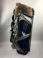 Ogio Grom Blue & Gold 8-Way Dual Strap Carry Stand Golf Bag