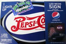 Pepsi cola coke new mancave kitchen led lighted neon sign shop garage home decor