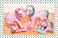 ❤️My Little Pony MLP G1 Vtg Loving Family Bright Bouquet Mommy Daddy Baby Lot❤️