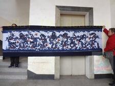 Handmade Decor Wall Hanging Batik Tapestry -Nine Dragons(Chinese Loong) 93x300cm