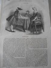 Le Jeu de l'Oie 1845 Gravure Article de presse