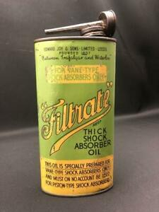 FILTRATE THICK PISTON TYPE SHOCK ABSORBER OIL TIN CAN QUART LEEDS WORKS