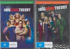 2x BIG BANG THEORY DVD Sets - Season 6 (3x DVD) + Season 7 (3x DVD) NEW & SEALED
