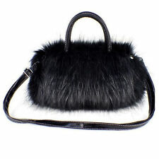 Black Faux Fur handbag
