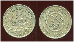 SYRIA  SYRIE   1/2 piastre 1921   ( etat )
