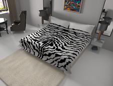 Solaron Blanket throw Thick Ultra Fine Polyester Mink Plush Zebra Heavy Weight