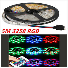 5M LED 3528 SMD RGB Colorful Flexible IP68 Waterproof Strip Light Lamp+24 Key IR