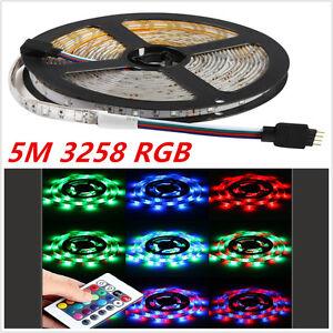 5M LED 3528 SMD RGB Colorful Flexible IP68 Waterproof Strip Light Lamp+24 Key IR