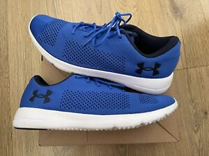 Under Armour Rapid Trainers Shoes Mens - Blue UK SIZE 11 - WORN ONCE