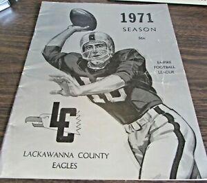1971 LACKAWANNA COUNTY EAGLES / TRI CITY JETS - EMPIRE FOOTBALL LEAGUE - PROGRAM