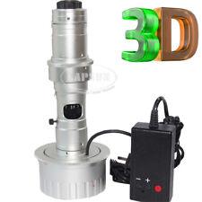 3D Stereo 180X C-MOUNT Lens LED Light for Digital Industrial Microscope Camera S