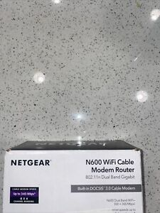 Netgear  N600 WiFi Cable Modem Router: Open Box Free Shipping