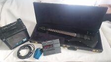 Komplettpaket Kramer Pacer Carrera '87, schwarz; ZOOM 707 II, Roland Cube 15 X