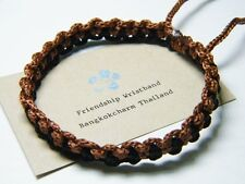 Thai Wristband Fair Trade Friendship Bracelet Black & Brown