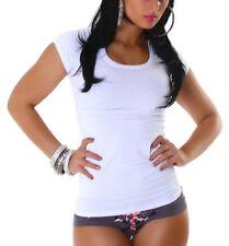 T-shirt blanc sans motif pour fille de 2 à 16 ans
