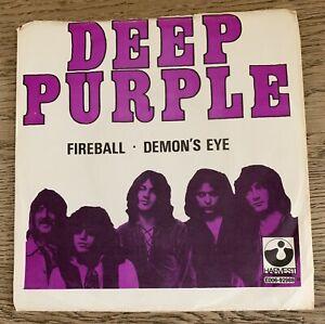 Deep Purple Fireball 1971 Harvest 4E006 -92988 P/S Sweden 7'!!!