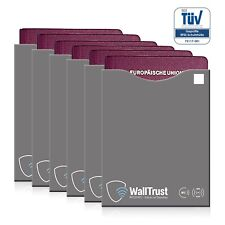 6 Stk. WallTrust® RFID NFC Blocker Reisepassschutzhülle Blocking TÜV Passport