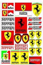 27 PVC Aufkleber Ferrari Scuderia Satz Auto Moto Motorrad Vinyl Stickers Set D 1