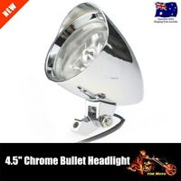 "Chrome Bullet 4.5"" Headlight 4 Yamaha Virago Xv 250 535 750 1100 Road Star AU"