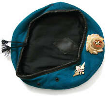 Russian Army Military Blue VDV Paratrooper Airborne Troops Forces Beret Hat