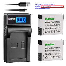 Kastar Battery LCD Charger for Panasonic DMW-BCM13 & Panasonic Lumix DMC-ZS50