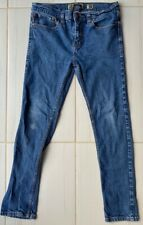 RSQ Tokyo Mens Super Skinny Jeans Blue Stretch Medium Wash Pockets Denim 32x30