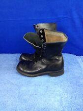 Endicott Johnson Corp Military Paratrooper Combat Jump Black Leather Boots 7.5 R