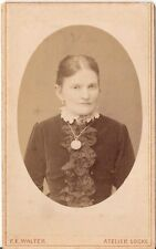 CDV photo Damenportrait - Dresden 1880er