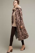 Chervil Collared Duster Size 8 Elevenses NWT $248 Faux Fur Collar Coat