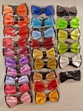 LOT OF 25 UNBRANDED MEN'S PRE TIED BOW TIE 100% POLYESTER MADE IN CHINA