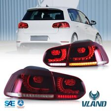 For 08-13 Volkswagen Golf 6 MK6 GTI R Tail Lights Lamp Pair w/ Dynamic Indicator