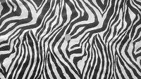 Zebra Print 4-Way stretch Matt Nylon/lycra fabric/Material - FREE UK P&P