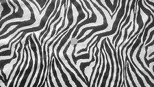 Zebra Print 4-Way stretch Matt Nylon/lycra fabric/Material - FREE UK P&P