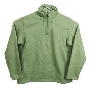 Columbia Sportswear Womens 1/2 Zip Sweater Size XL Green Warm Fleece Jumper