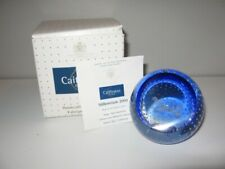 "Caithness Art Glass ""Millennium 2000"" Paperweight Scotland Clear Round Mib"