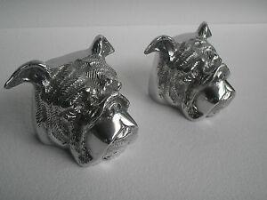 Metal Bull Dog Bookend Figurine statue gift au