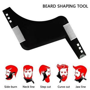 UK Beard Styling and Shaping Template Flexible Trimming Comb Beard Shaving Tool