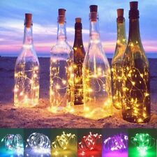 Solar Powered Wine Bottle Cork Shaped LED Copper Wire String Outdoor Fairy Light