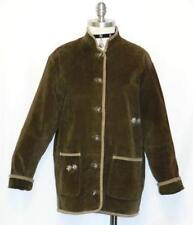 """LEATHER JACKET German BROWN Women Tracht Hunting Western Over Coat B44"""" 38 14 L"""