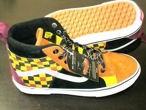 Vans Mens Sk8-Hi 46 Mte Dx All Weather Boots Yellow Camo Checker Size 10 NWT